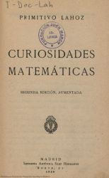 Ver ficha del libro: CURIOSIDADES MATEMÁTICAS