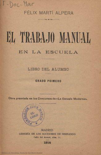 Book : El trabajo manual en la escuela