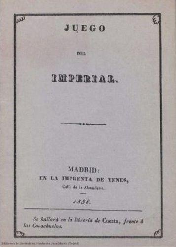 Libro : Juego del imperial