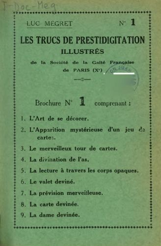 Libro : Les trucs de prestidigitation illustrés