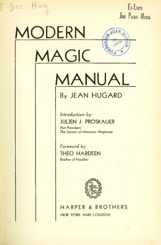 Libro : Modern magic manual