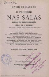 Ver ficha del libro: O PRODIGIO NAS SALAS: MANUAL DE PRESTIDIGITAÇAO ORNADO DE 67 ESTAMPAS