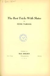 Ver ficha del libro: THE BEST TRICKS WITH SLATES