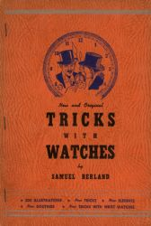 Ver ficha del libro: TRICKS WITH WATCHES : NEW AND ORIGINAL EFFECTS