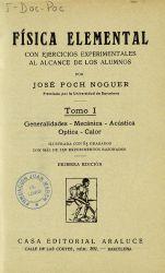 Ver ficha del libro: FÍSICA ELEMENTAL: CON EJERCICIOS EXPERIMENTALES AL ALCANCE DE LOS ALUMNOS