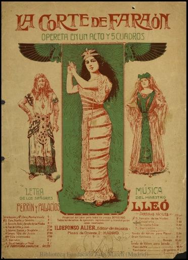 """La corte de Faraón:N. 5, Couplets babilónicos : opereta """"bíblica"""" en un acto y cinco cuadros"""