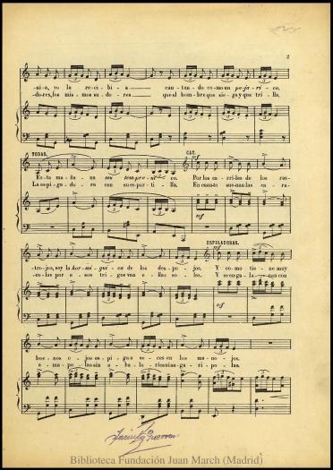 La rosa del azafrán:zarzuela en dos actos : N. 11, Canción de las espigadoras