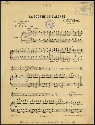 La boda de Luis Alonso:N. 5 A, Habanera