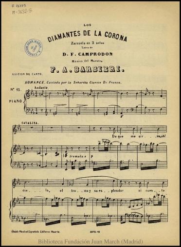 Los diamantes de la corona:zarzuela en tres actos : N. 15, Romance