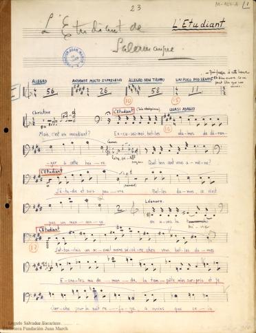 L'Etudiant de Salamanque:opéra bouffe en 1 acte : op. 38