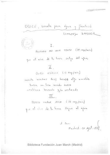 Óbice:sonata para agua y flauta(s)