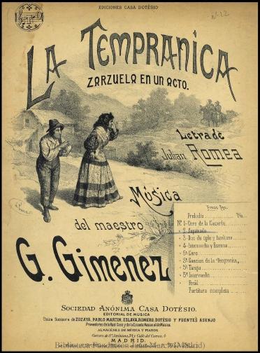 La Tempranica:N. 2, Zapateado : zarzuela en un acto