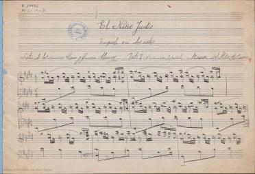 El niño judío:Canción española : zarzuela en dos actos