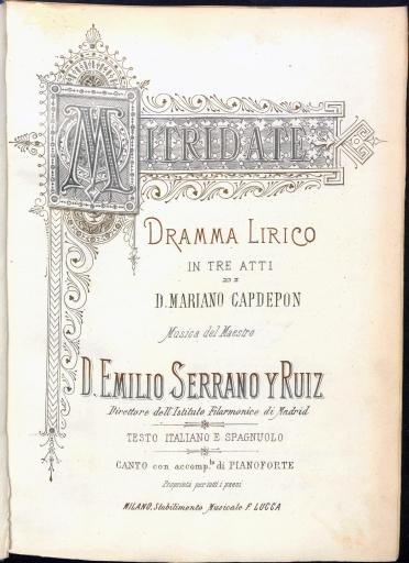 Mitridate:dramma lirico in tre atti