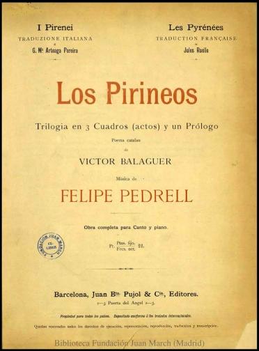 Los Pirineos:trilogía en 3 cuadros (actos) y un prólogo