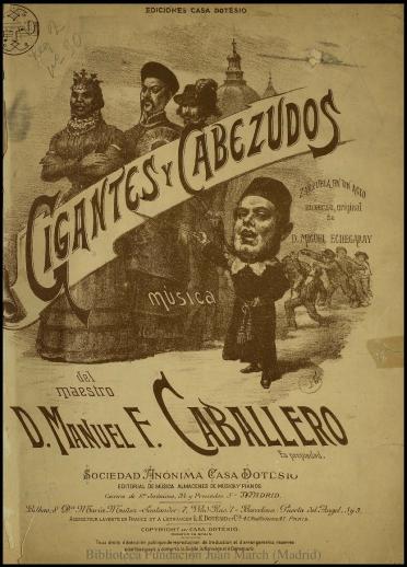 Gigantes y cabezudos:N. 2, Romanza de Pilar : zarzuela en un acto