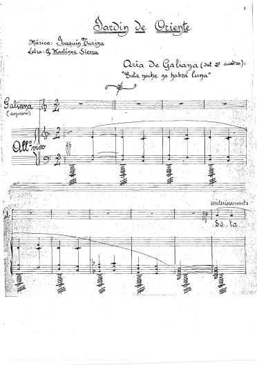Jardín de oriente:aria de Galiana (del 2º cuadro) : op. 25