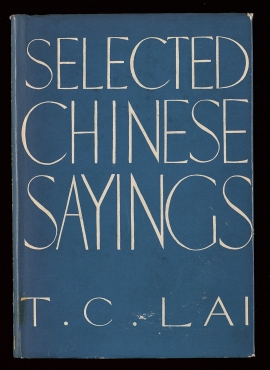 Selected Chinese sayings