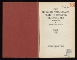 The Harvard outline and Reading lists for oriental art