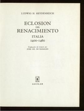Eclosión del Renacimiento