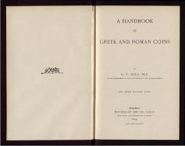A Handbook of Greek and Roman coins