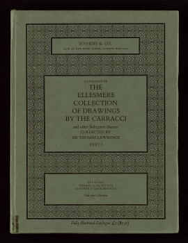 Catalogue of the Ellesmere collection of drawings by the Carracci and other Bolognese masters