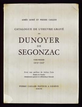 Catalogue de l'oeuvre gravé de Dunoyer de Segonzac