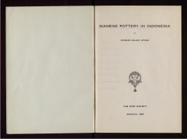 Siamese pottery in Indonesia