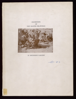 Exhibition of old master drawings at the H. Shickman Gallery, 929 Park Avenue, New York 10028