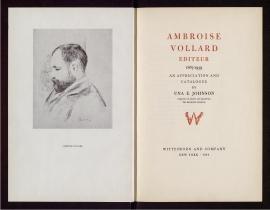 Ambroise Vollard editeur, 1867-1939