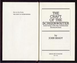 The Craft of the screenwriter