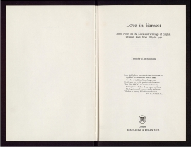 Love in Earnest