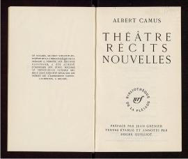 Théâtre, récits, nouvelles