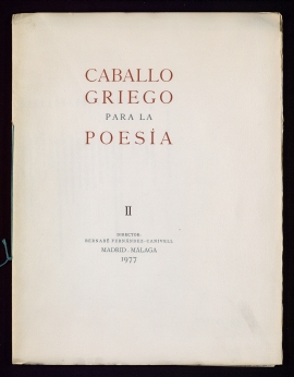 Caballo griego para la poesía