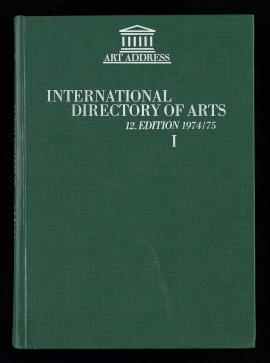International directory of arts