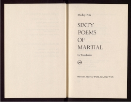 Sixty poems of Martial