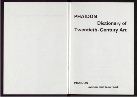 Phaidon dictionary of twentieth-century art