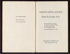 Knock upon silence
