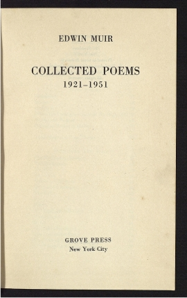 Collected poems, 1921-1951