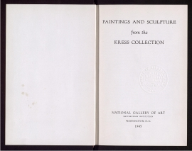 Paintings and sculpture from the Kress Collection