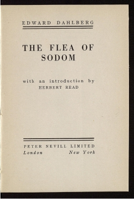 The Flea of Sodom