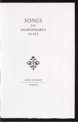 Songs from Shakespeare's plays