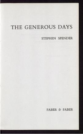 The Generous days