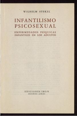 Infantilismo psicosexual