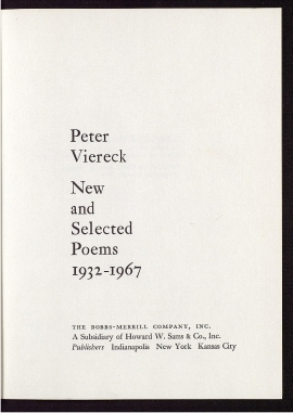 New and selected poems, 1932-1967