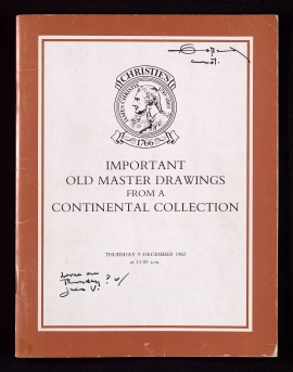 Important old master drawings from a continental collection