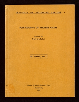 Four readings on Philippine values