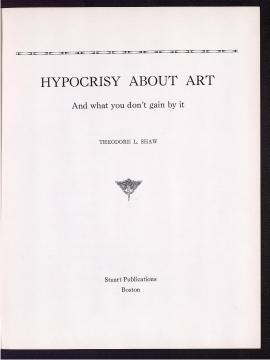 Hypocrisy about art