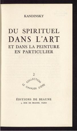 Du spirituel dans l'art