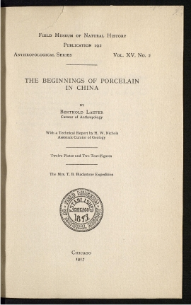 The Beginnings of porcelain in China